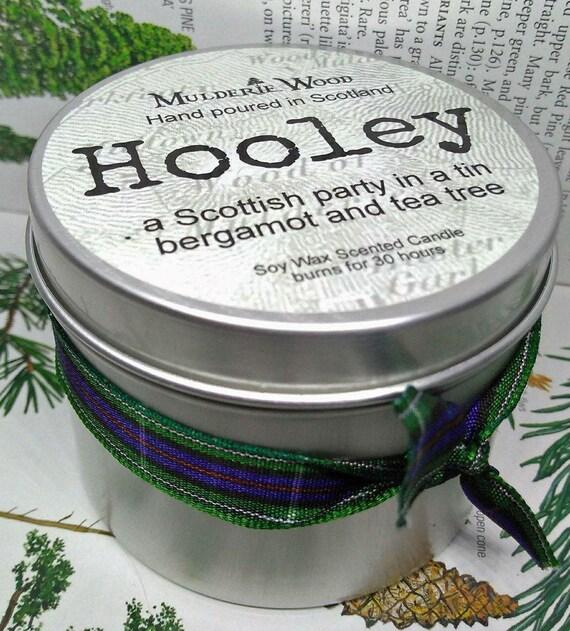 Hooley Bergamot and Tea Tree Natural Soy Wax Energising Scottish Candle