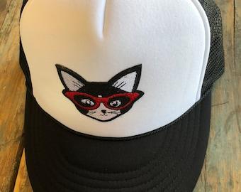 YOUTH / TEEN Cat Patch Trucker Hat Baseball Cap Snap Back