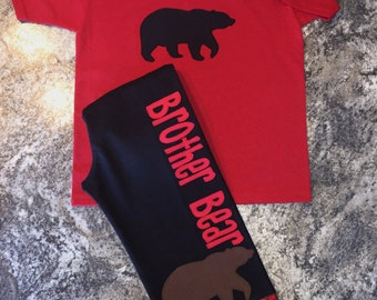 Personalized Black/Brown Bear Christmas Lounge/Pajama Set for the Family