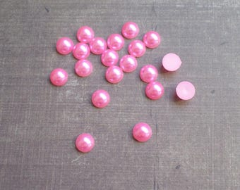 160 half bead 8 mm candy pink