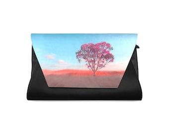 Clutch Purse, Colorful Clutch, Designed Bag, Evening Bag, Elegant Clutch, Pink Purse, Lady's Bag, Gift For Me, Zipper Clutch, Pouch