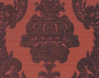 Persimmon Jacquard Upholstery Fabric