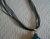 Blue flower Bead Necklace...