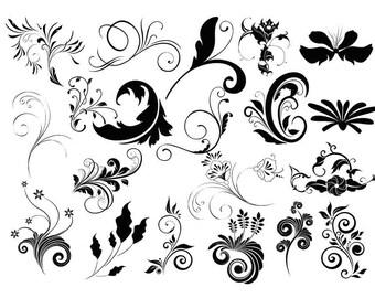 Ornament Svg, Ornament Clipart, Divider Silhouette, Flourish Svg File, Flourish ornament, Ornament Bundle, Ornament cricut Buy 2 Get 1 FREE