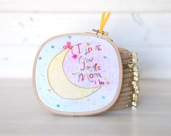 "Square Embroidery Hoop - 6.5"" x 6.5"" Wooden Embroidery Hoop - Embroidery Hoop - Wooden Hoops - Square Wooden Hoops - 15cm Square Hoop"