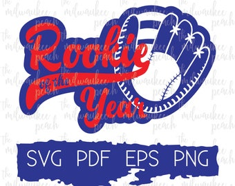 Rookie of the Year. Rookie baseball SVG Baseball Rookie SVG