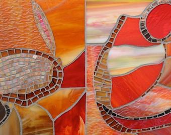 Mosaic wall piece, Mosaic wall hanging, Mosaic Art