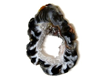 Geode Slice - Druzy Center - Extra Grade - Wire Wrapping - RK8B4a-03