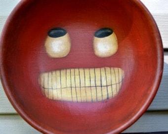 Smiling Jack handpainted bowl