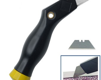 Craft tool Leather Angled Knife Cut Heavy Leathers, Comfortable Handle WA 540-004