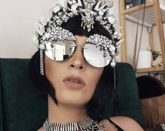 Silver bling pimped out sunnies