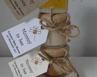 Baby shower personalised favours, honey favours, natural honey gift
