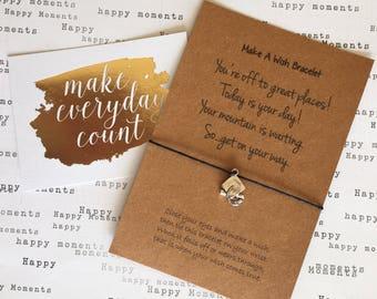 Make A Wish Bracelet / Charm Bracelet - Graduation - You're Off To Great Places!...