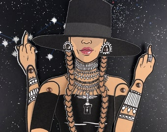 Bey Formation // Articulated Paper Doll Kit