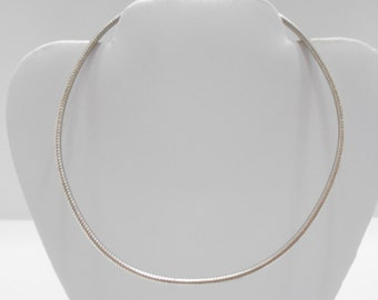 Vintage Silver Tone Rope Choker Necklace (7483/7484/7611)