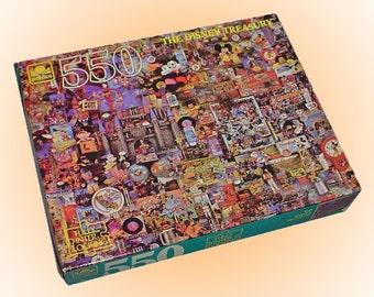 The Disney Treasury 550 piece Vintage Golden Jigsaw Puzzle