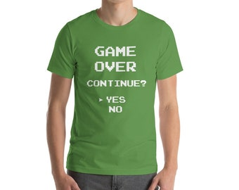 Game Over T-Shirt, Video Game Tshirt, Gaming T Shirt, Retro Gaming, Retro Games, Video Games T-Shirt