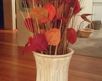 Distressed Antique Chalk Painted Vase
