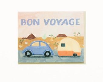 Bon Voyage Trailer Card