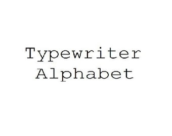 Instant Download - Typewriter Style Alphabet Filet Crochet Cross Stitch Pattern