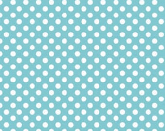 Riley Blake Small Aqua Dots 1 Yard Cut