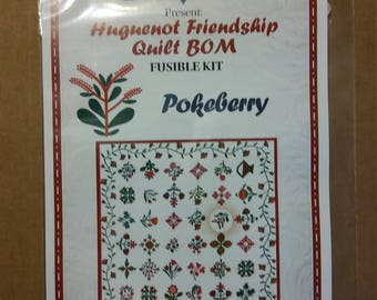 Triplett Sisters Block of the Month: Pokeberry Fusible Kit