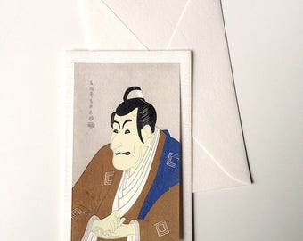 Card and envelope, pattern Japanese traditional UKIYOE KABUKI (F1304)
