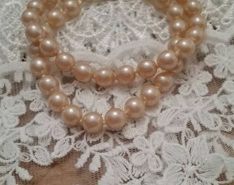 Vintage Double Strand of Pearls Bracelet