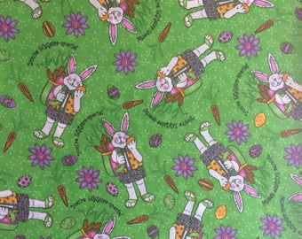 You'rs Eggs Cotton Fabric Sold by The Half Yard