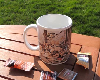 Mug céramique, chat, tasse à café, tasse à thé, coffee