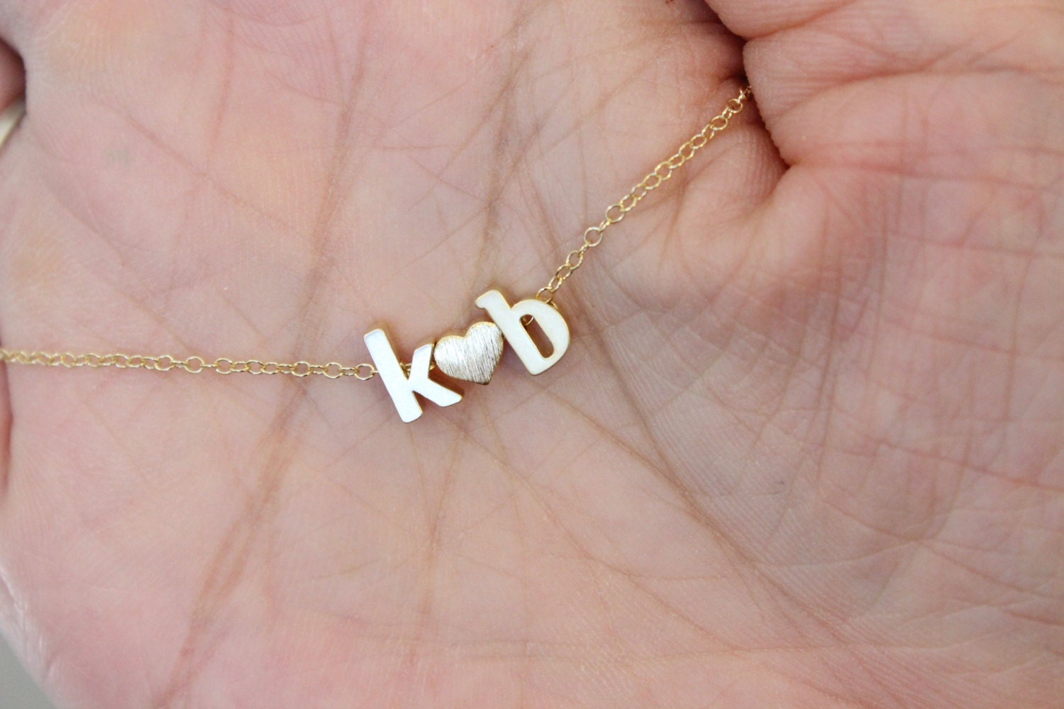 Two initial necklace boyfriend girlfriend his and her zoom mozeypictures Images