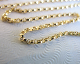 3-100 feet, 14k Gold Filled Chain, 1.2 mm ROLO Chain, 10-25% Less Bulk, strong delicate, unfinished wholesale chain sgf.. SGF2