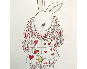 White Rabbit original painting