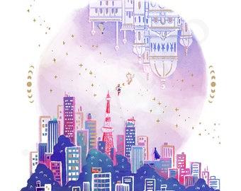 Moonlight Millennium - Illustration Print