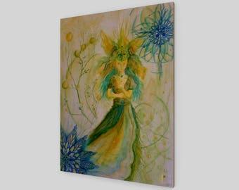 Zen Fairy- Wood Print