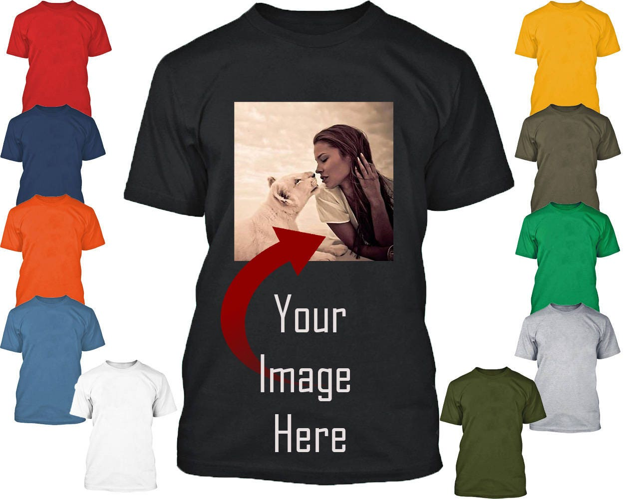 Personal Custom Tshirt Create Your Text Or Logo Make Your Own