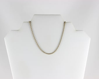 Mens 14K Yellow Gold Rope Chain Necklace 21 1/2 inch 2.2 mm
