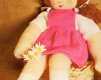 Vintage Knitted Doll Pattern
