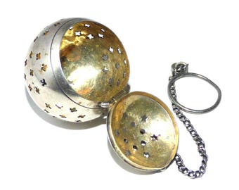 Vintage Sterling Silver Ball Tea Infuser Marked