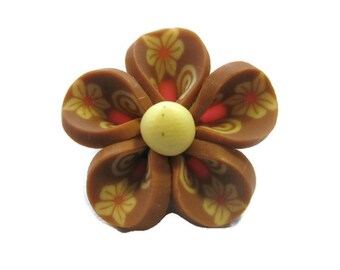 Four 20mm Polymer Clay Flowers