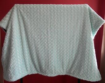 Swirl Design Blanket--Full-sized Faux Fur