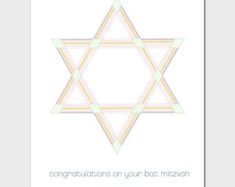 Modern Bat Mitzvah Card