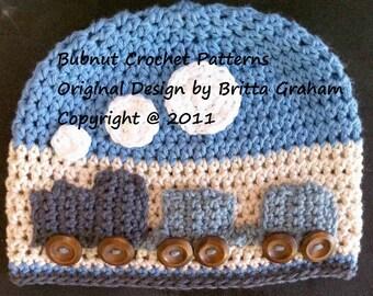 The Original Crochet Train Hat Pattern - Crochet Pattern No.109 English