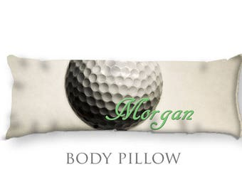 Personalized Golf Body Pillow-Golf Bed Pillow-Golf Body Pillow Cover-Sports Pillow Cover-Golf Pillow Cover-Customized Bed Pillow-Golf Decor