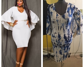 Batwing Dress Curvy Girl Style (Plus Size XL)