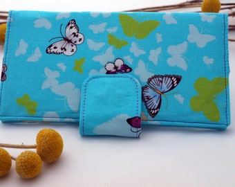 Long wallet with butterflies