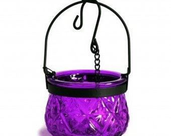 Hanging Candle lantern-Purple