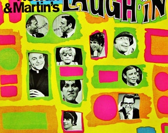 LAUGH IN Vinyl Record, Near Mint/Excellent Vintage 1968 Tv Comedy Sound Track Rowan & Martin, FREE Shipping Goldie Hawn Blast From the Past!