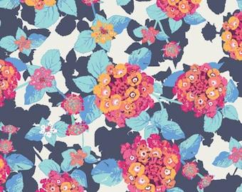Art Gallery Fabrics - Lantana Cobalt from Mediterraneo by Katarina Roccella
