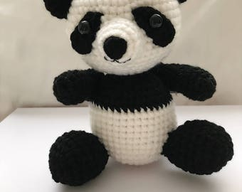 Handmade crochet baby Panda